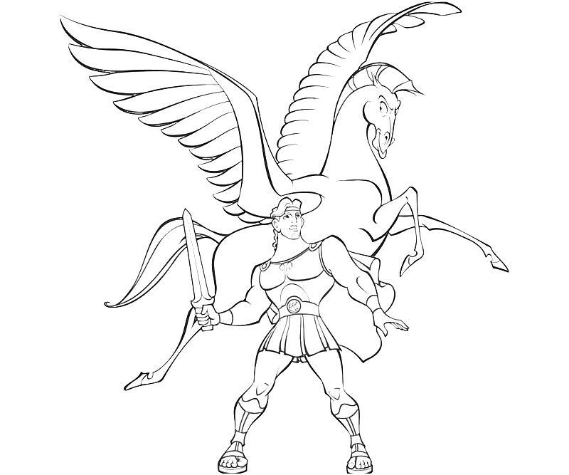 Gratis utskrivbare Pegasus-fargeleggingssider for barn