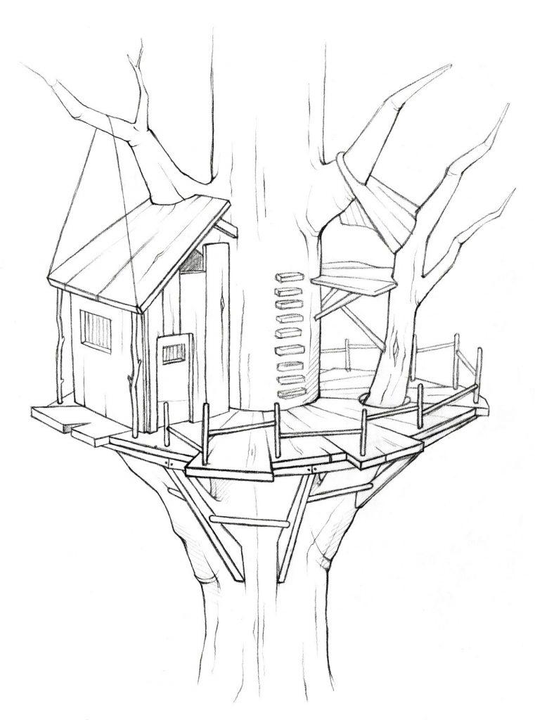 صفحات تلوين Treehouse